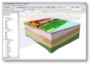 Construction of the 3D images of hydrogeologic layersՀիդրերկրաբանական շերտերի եռաչափ (3D) պատկերի կառուցում